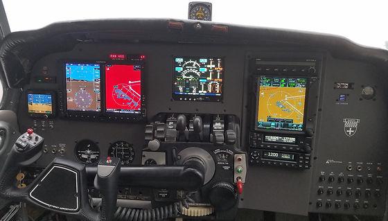 Barron, Baron, Cessna, Gamin, GTN 750, GTX 345, ADS-b, adsb, glass panel