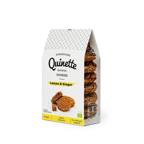 Quinette 100 gr Lemon & Ginger Cookies