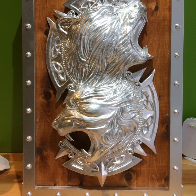 Bouclier 3D or Honor Bois et effet métallique