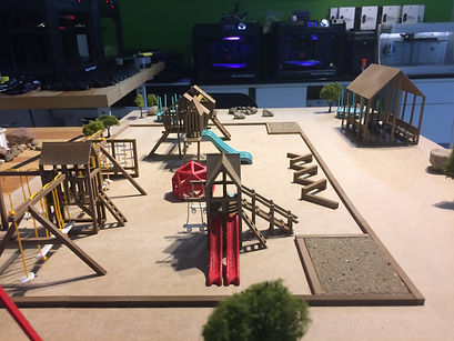 Maquette terrain de jeux