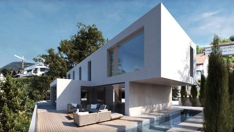 Villa mit Seesicht, Wollerau