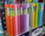 Fadeless bulletin board paper rolls