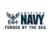 US NAVY AMERICAS LOGO FORGED BY THE SEA
