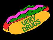very drugs hotdog logo.png