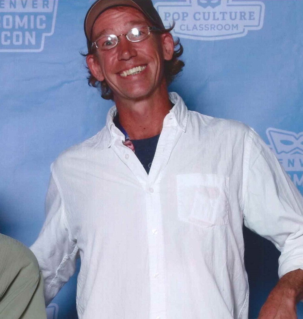 Screenwriter Mike Rogers at Comic Con, Denver