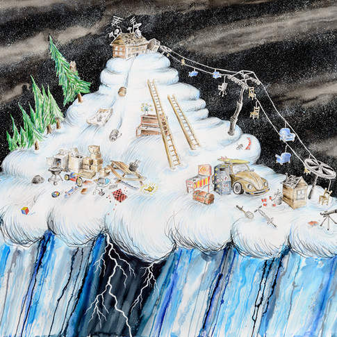Cloud with Chairlift and Magic Lamp