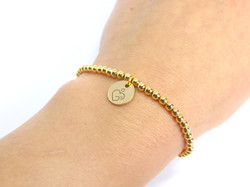 """Gold """"Hey There Mama"""" Bracelet"""