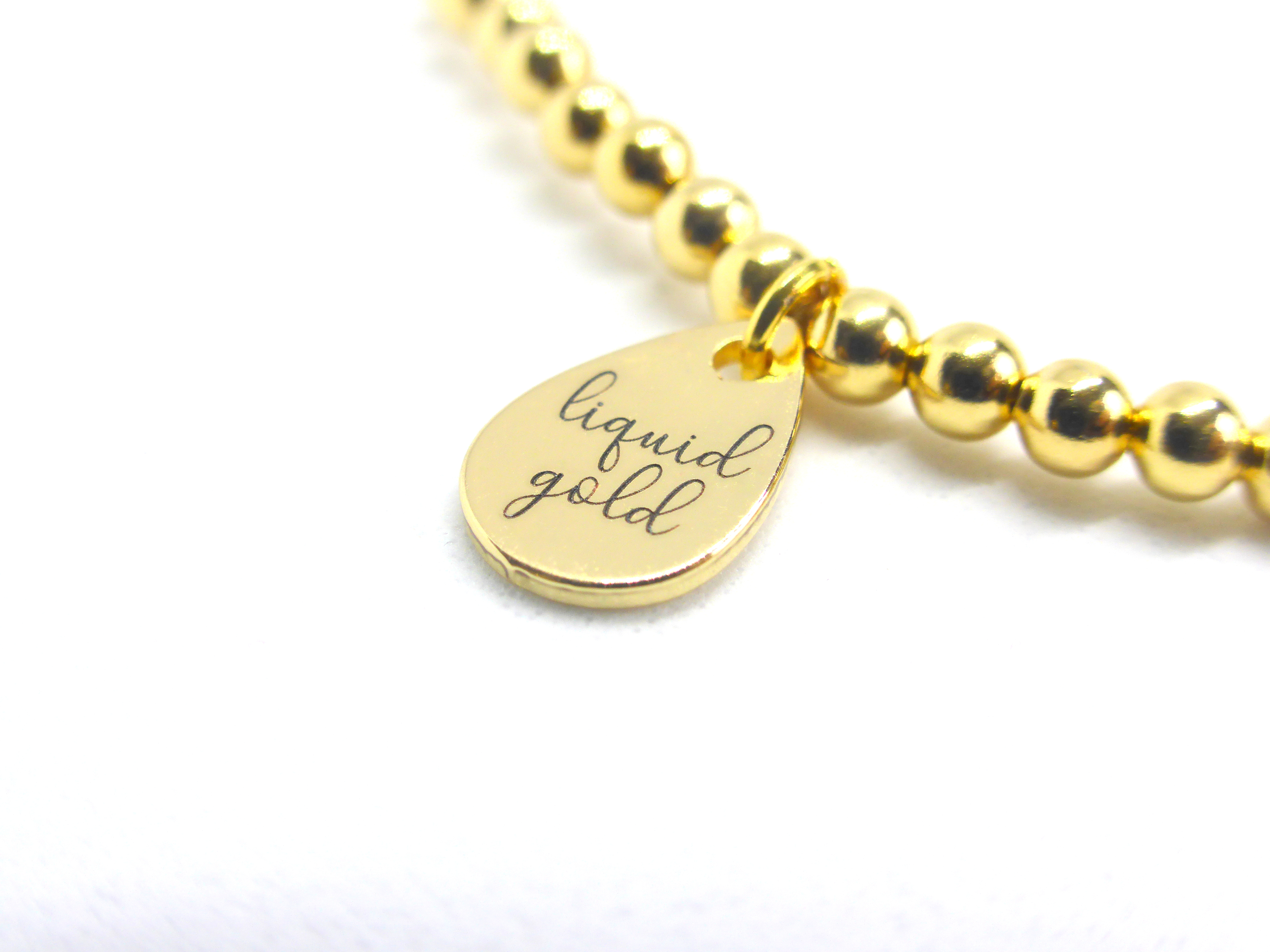 Liquid Gold Tag 14K gold plated
