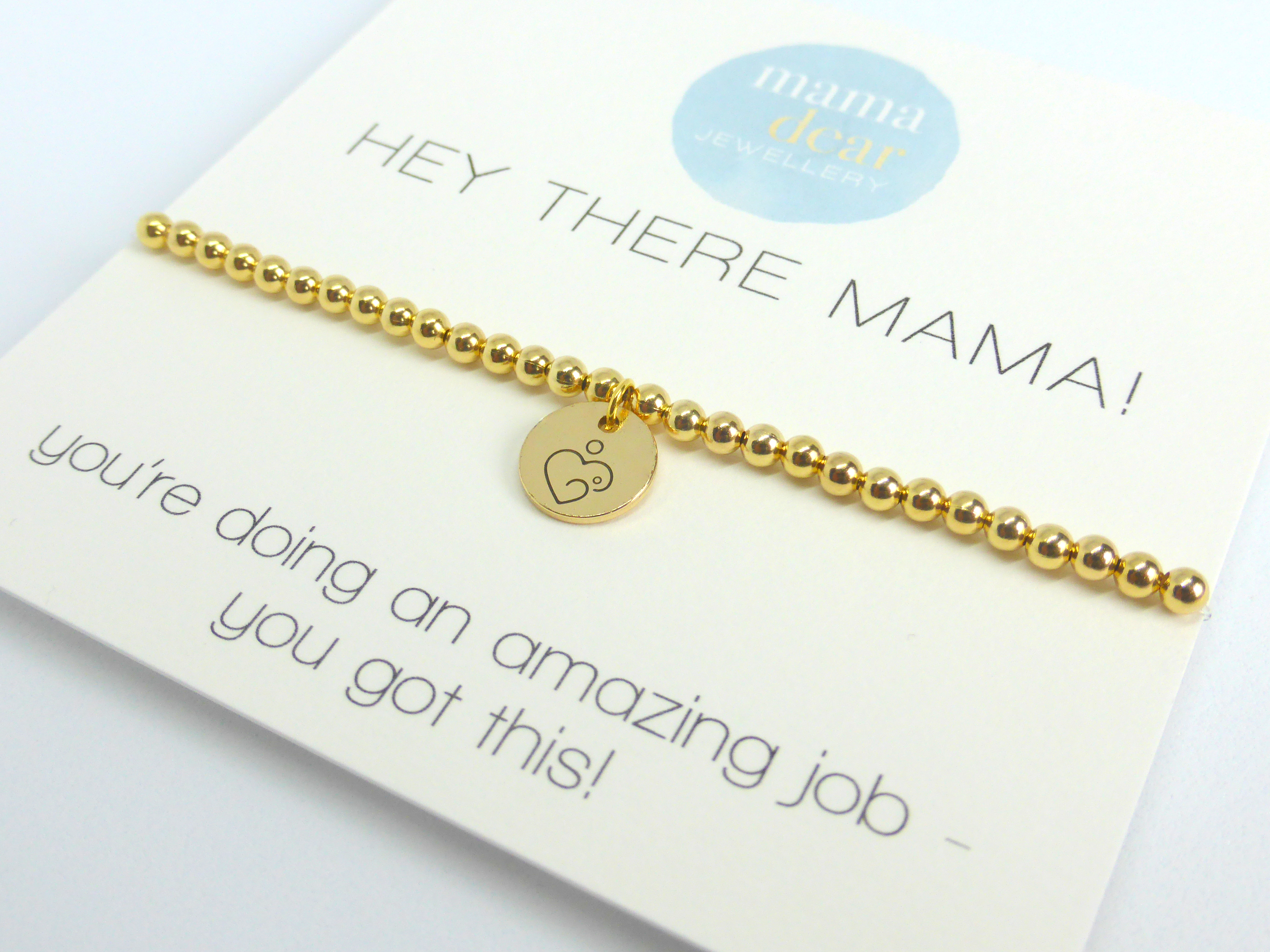 Hey there Mama Bracelet - Gold