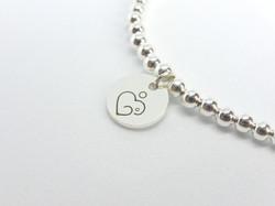 Silver Metal Bead Bracelet