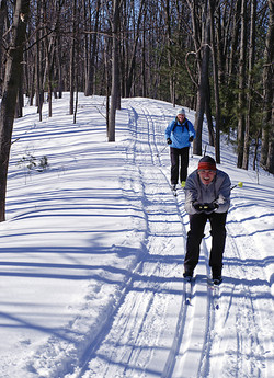 Couple On  Cross Country Skis