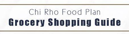 Chi Rho Shopping List