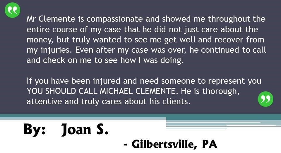 Testimonial of Joan S.