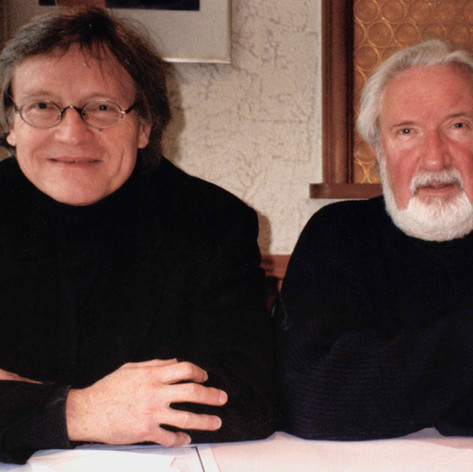 Visiting friend and composer Gerald Humel in Berlin 2002