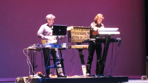 Eric Klein and keyboardist Bruce MacPherson perform