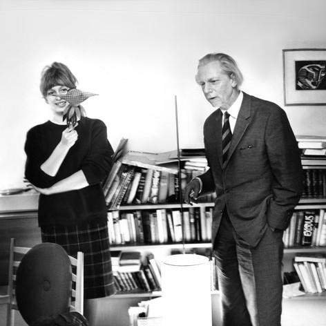 Boris Blacher and friend, Berlin, 1960's, photo by Heinz Koster
