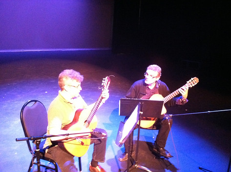 "Eric Klein and John T. La Barbera perform ""Four Journeys"" for guitar duo"