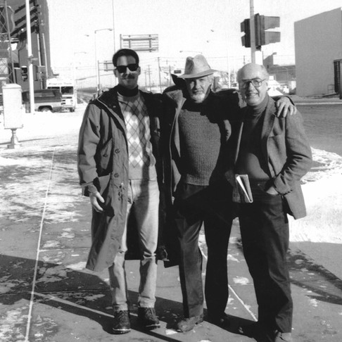 Lothar Klein with composer friends, Joseph Landers and Frederic Goossen