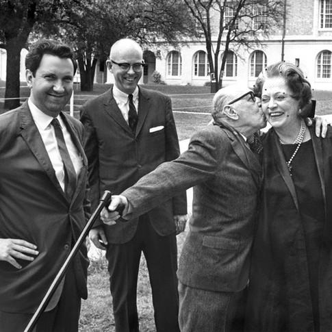 Lothar Klein, Kent Kennan, Igor Stravinsky, Vera Stravinsky - University of Texas, Austin, 1965