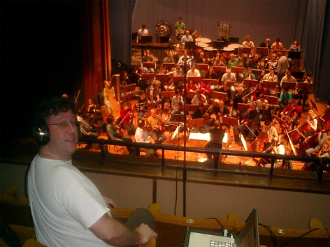 Eric Klein during recording of Anagram for Orchestra, Black Sea Symphony