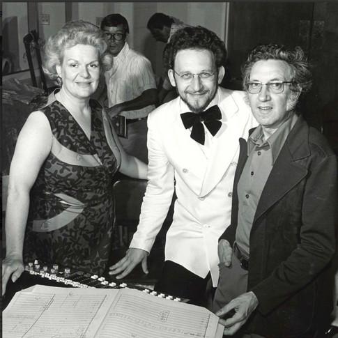 Maureen Forrester, Boris Brott, Lothar Klein, premier of Philosopher in the Kitchen, 1975