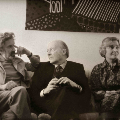 Lothar Klein, Witold Lutoslawski, and wife Maria, visiting Toronto 1980
