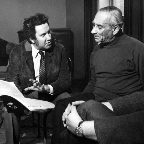 Karel Ancerl, Lothar Klein, Toronto Symphony premiere of Paganini Collage, 1971.  photo: Norm Scudellari
