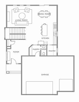 Silver Line Custom Homes Floor Plans Two Story High End Residential Farm House Open Living