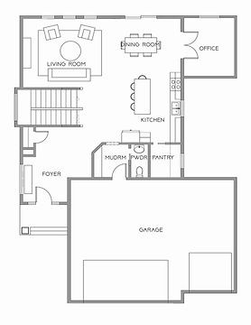 Parks Two Story Main Floor Office Floor Plan from Silver Line Custom Homes in Fargo, ND High End Residential