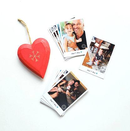 Polaroid com legenda - 8 foto ímãs 9,5x6,5cm