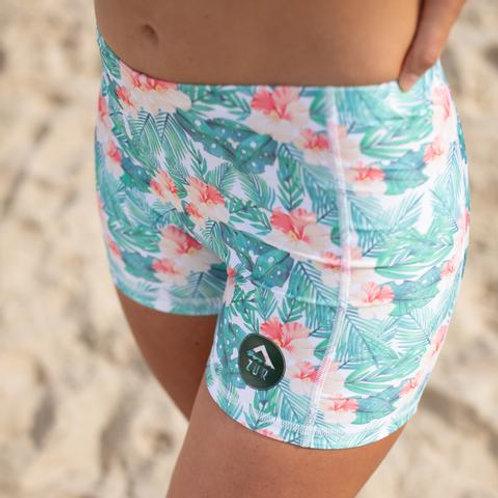 Azur Paddle Shorts Hibiscus