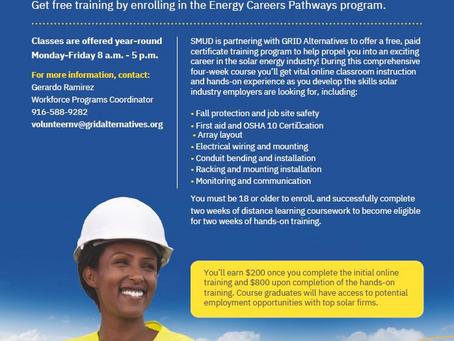 GRID Alternatives Partners with SMUD on Career Energy Pathways Program