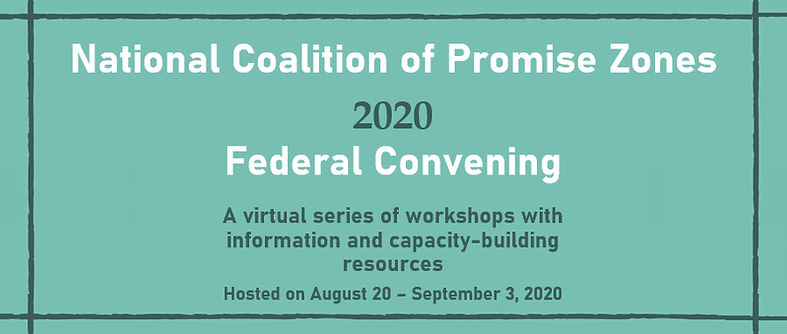National Coalition of Promise Zones 2020 Federal Convening