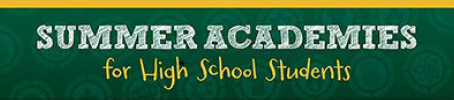 Registration Opens March 1 for Summer Academies!