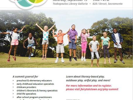 2018 Sacramento Play Summit on September 15