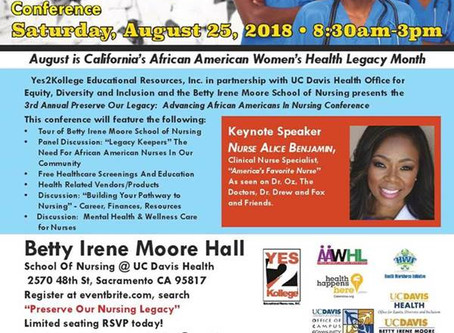 Advancing African-Americans in Nursing Conference on August 25