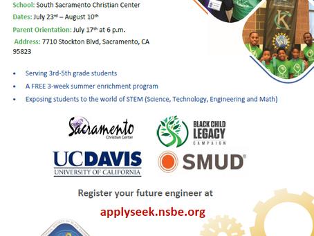 2018 Summer Engineering Experience for Kids (SEEK)