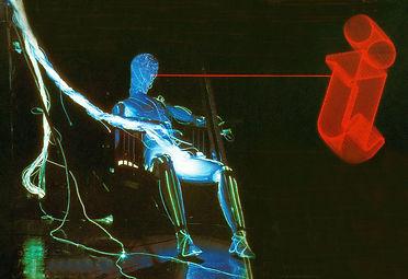 Fibreman laser lit fibre optic robot