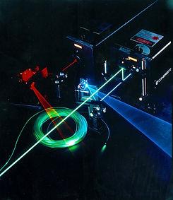Laser are used to make hologram art