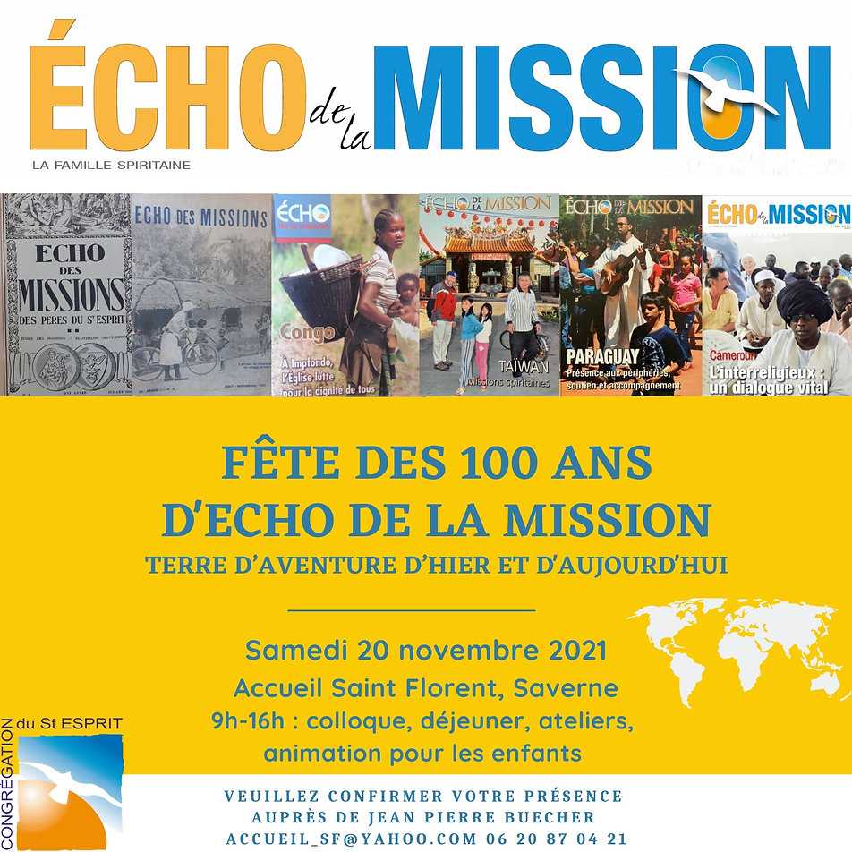 Invitation 100 ans Echo de la mission -