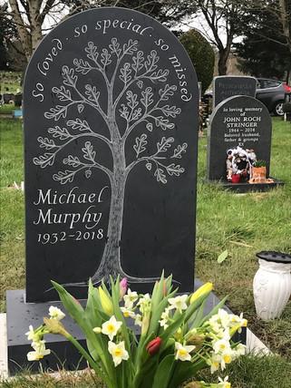 Headstone in Welsh Slate