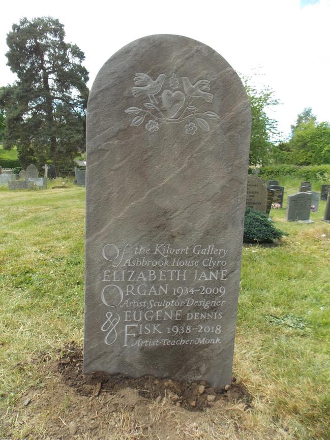 Headstone in Michaelchurch Escley