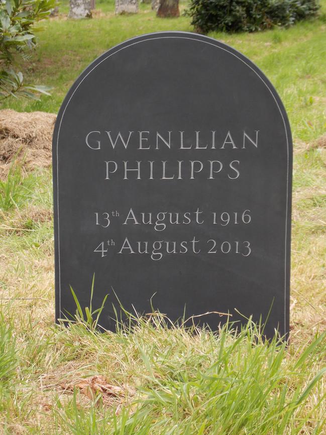 Welsh Slate Headstone