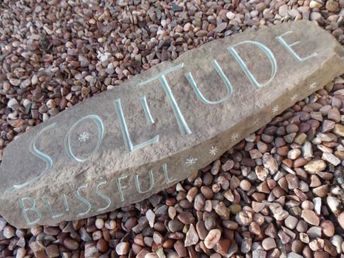 'Blissful Solitude' hardcarved pebble