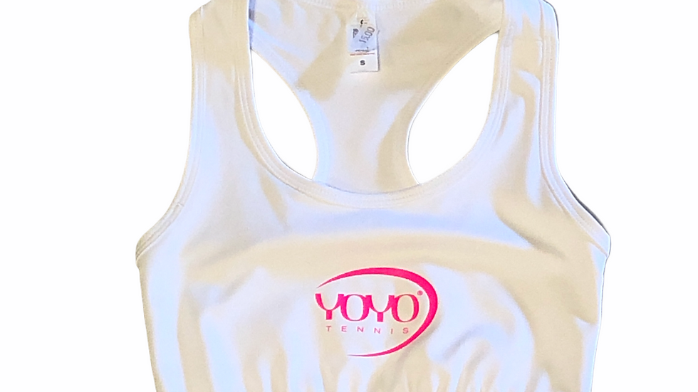 YOYO-TENNIS SPORT TOP WHITE/ROSE