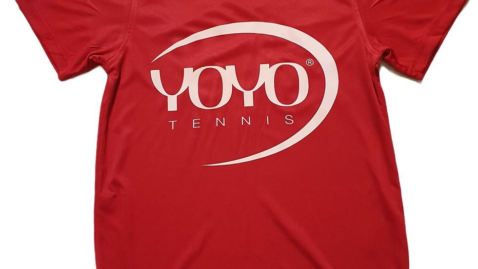 YOYO-TENNIS T-SHIRT POLYESTER RED/WHITE JUNIOR