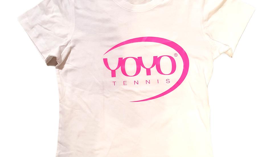YOYO-TENNIS T-SHIRT WHITE/PINK WOMAN