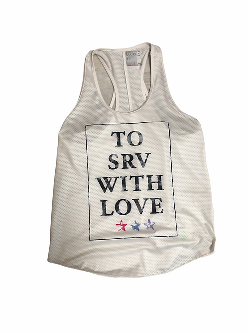 LUCKY IN LOVE TANK WHITE TO SRV
