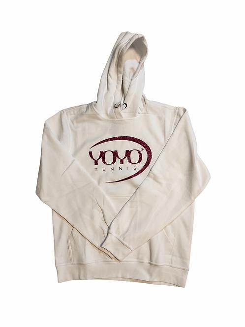 YOYO-TENNIS HOODY WHITE/GLITTER