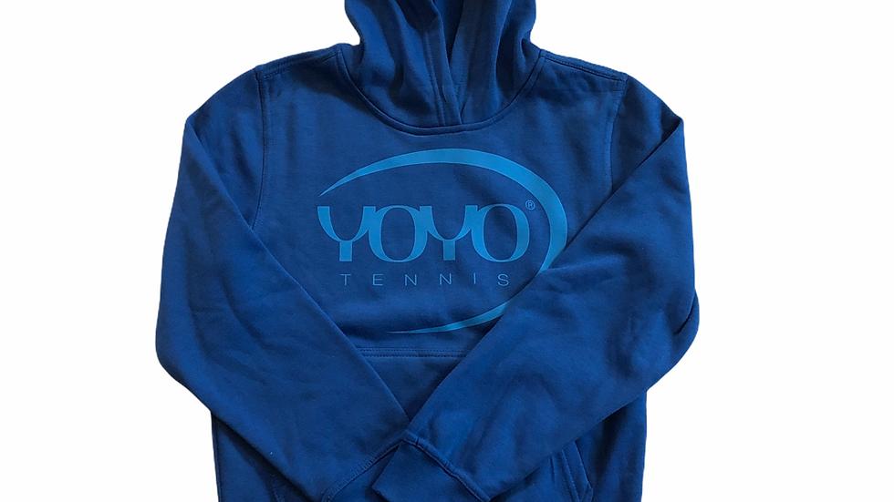 YOYO-TENNIS HOODY BLUE/POOL JUNIOR